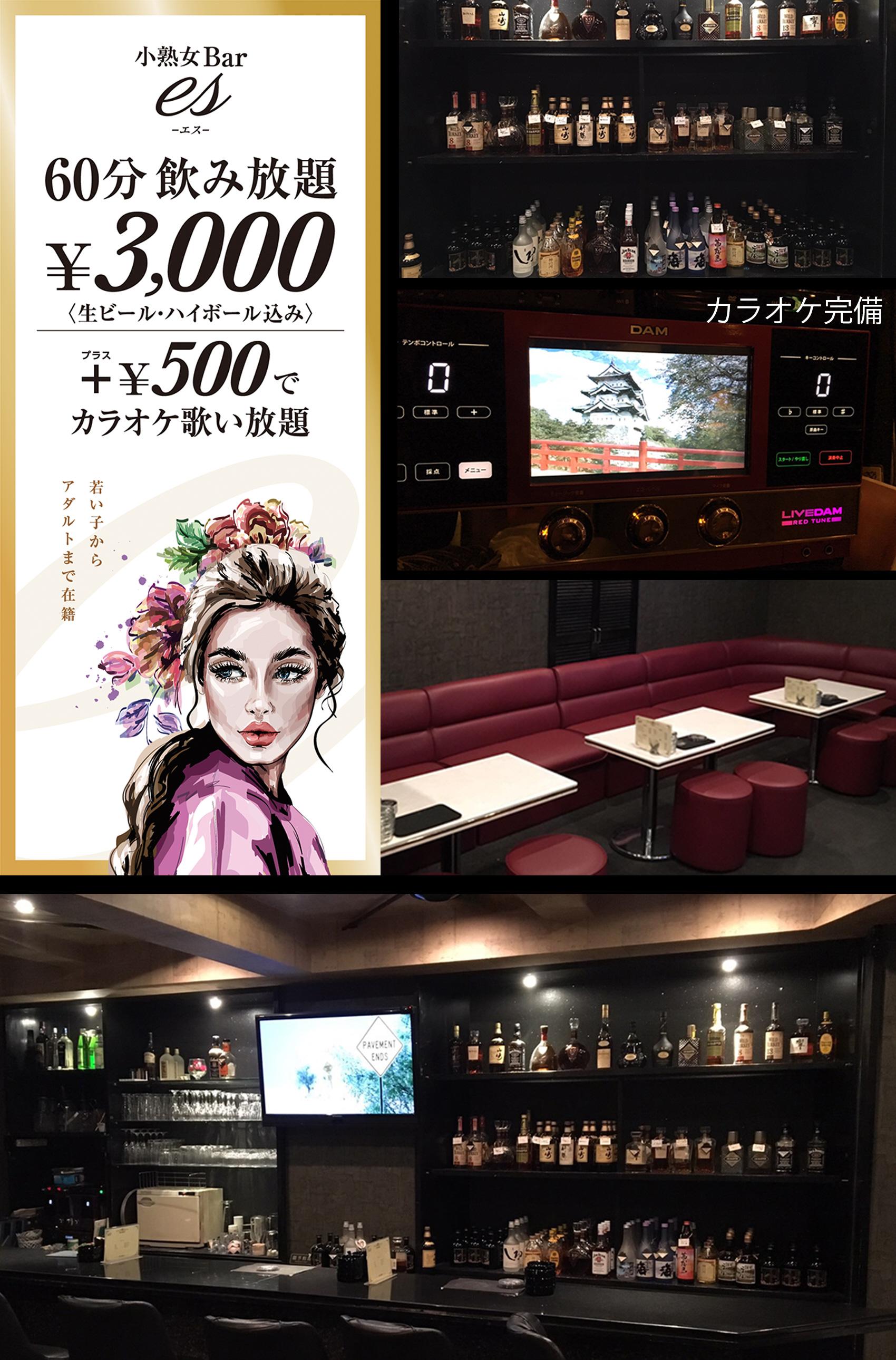 福岡市早良区西新の小熟女Bar es(エス)